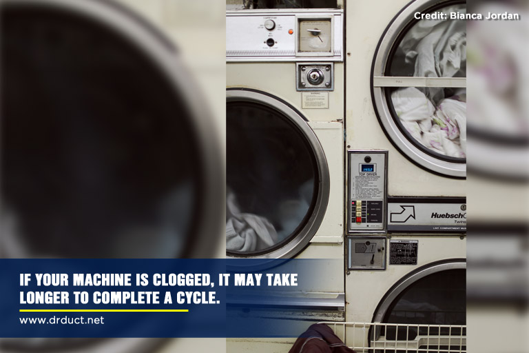 If your machine is clogged, it may take longer to complete a cycle.