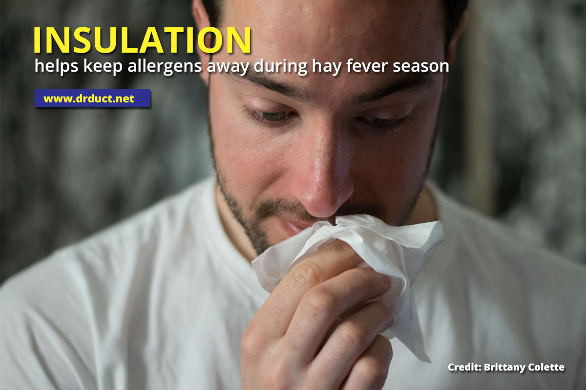Insulation helps keep allergens away during hay fever season