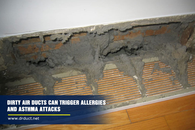 Dirty air ducts can trigger allergies and asthma attacks.